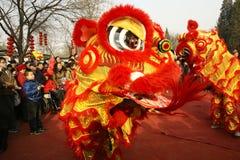 Danza del león Foto de archivo