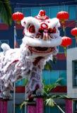Danza del león Imágenes de archivo libres de regalías