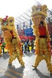 Danza del león Imagen de archivo libre de regalías