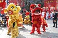 Danza del león Imagen de archivo
