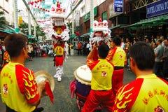 Danza del león Imagenes de archivo