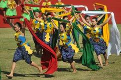 Danza del mantón en Indonesia Fotos de archivo libres de regalías