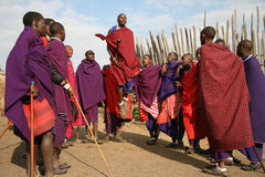 Danza del Masai Imágenes de archivo libres de regalías