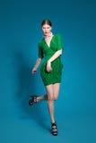 Danza del modelo de moda Imagenes de archivo