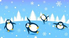 Danza del pingüino stock de ilustración
