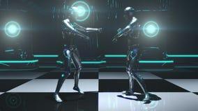 Danza del robot stock de ilustración