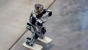 Danza del robot del Humanoid almacen de metraje de vídeo