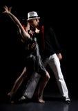 Danza del tango Imagen de archivo libre de regalías