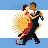 Danza del tango Foto de archivo