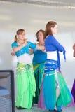 Danza del ventre delle donne Fotografia Stock