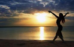 Danza en el mar Fotografía de archivo libre de regalías