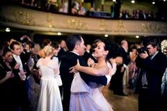 Danza en la bola Fotografía de archivo