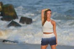 Danza en la playa Fotografía de archivo