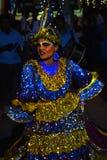 Danza en un perahera, Sri Lanka del pavo real Fotos de archivo libres de regalías