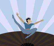Danza expresiva stock de ilustración