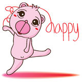 Danza feliz del oso Foto de archivo