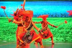  danza-grande agradable del show†de los escenarios de la escala del tibetano el  del legend†del camino Imágenes de archivo libres de regalías