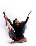 Danza hermosa del ballet del baile de la bailarina Imágenes de archivo libres de regalías