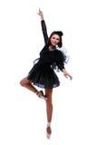 Danza hermosa del ballet del baile de la bailarina Fotos de archivo