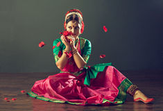 Danza india Imágenes de archivo libres de regalías