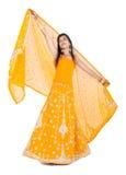 Danza india de la mujer fotografía de archivo libre de regalías