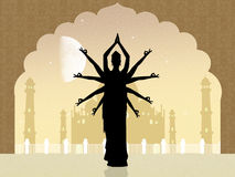 Danza india en la mezquita ilustración del vector