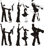 Danza latina - baile del ballrom Fotografía de archivo libre de regalías