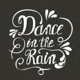 Danza a mano de las letras en la lluvia ilustración del vector