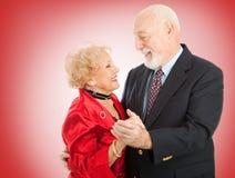 Danza mayor de la tarjeta del día de San Valentín Fotos de archivo libres de regalías