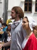 Danza medieval Foto de archivo libre de regalías