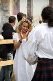 Danza medieval Foto de archivo