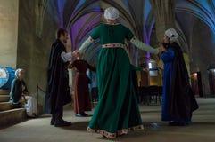 Danza medieval Imágenes de archivo libres de regalías