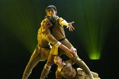 Danza moderna china de los tríos foto de archivo libre de regalías