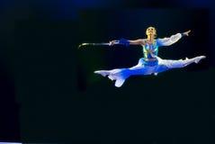 Danza moderna china del grupo   Fotografía de archivo libre de regalías