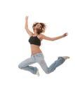 Danza moderna del jazz femenino joven del baile Imagen de archivo libre de regalías