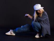 Danza moderna. Hip-hop. Imagenes de archivo