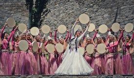 Danza nacional de Azerbaijan Foto de archivo