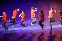 Danza no identificada del bailarín un estilo coreano Fotos de archivo