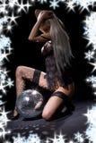 Danza oscura del glitterball Imagen de archivo libre de regalías