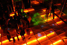Danza pasillo del estilo del disco Foto de archivo libre de regalías