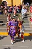 Danza peruana del folklore en Cajabamba Fotos de archivo libres de regalías