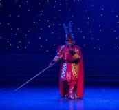 Danza popolare bella di Re-cinese della scimmia Immagine Stock Libera da Diritti