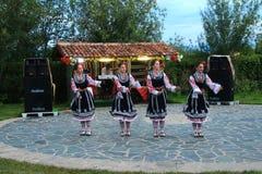 Danza popolare in Bulgaria Fotografia Stock