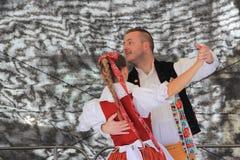 Danza popolare ceca Fotografie Stock Libere da Diritti