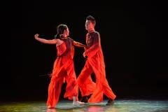 Danza popolare cinese del cittadino di nozze- Immagine Stock Libera da Diritti