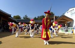 Danza popolare coreana Fotografia Stock