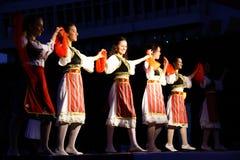 Danza popolare dei Balcani Fotografia Stock Libera da Diritti