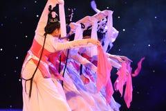 Danza popolare del cittadino del fatato- del fiore della pesca del fazzoletto- della polvere Immagine Stock