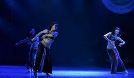 Danza popolare del cittadino di carnevale- di festival della torcia Immagine Stock Libera da Diritti