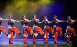 Danza popolare del ragazza-tibetano del pastore Fotografia Stock Libera da Diritti
